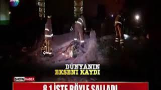 Dev deprem dünyanın eksenini kaydırdı  (8.1)
