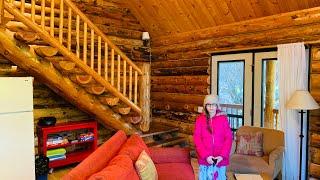 900 Sq. Ft. Amish Log Cabins Interior Walk Through Part 2