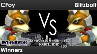 MNM 133 - CFoy (Fox) vs Blitzbolt (Fox) Winners - Melee