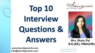Top 10 Interview Questions and Answers (English)