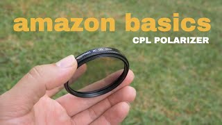 AmazonBasics Circular Polarizer Lens - 52 to 82mm