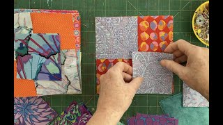 Sunday Chat, While I Work On The Flying Goose Quilt In Kaffe Fassett Fabric