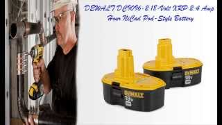 DEWALT DC9096 2 18 Volt XRP 2 4 Amp Hour NiCad Pod Style Battery - Best Nicad Battery!