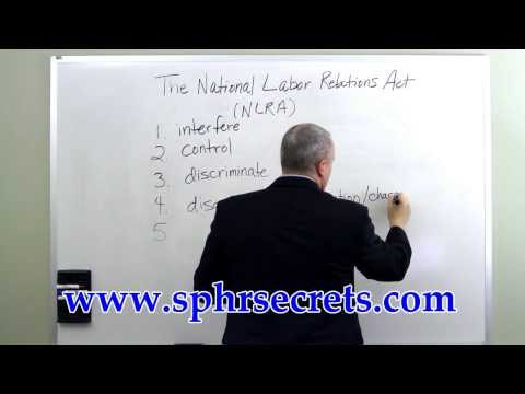 SPHR Exam - NLRA Labor Practices - YouTube
