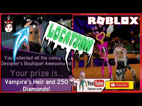 Roblox Vampire Love Roblox Gameplay Royale High Halloween Event Kelseyanna S Homestore All Candy Location Vampire S Heir Steemit