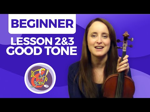 Irish Fiddle Lesson 2 & 3 - [Creating A Good Tone] Fiddle Basics