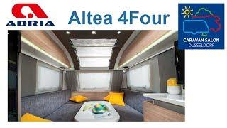 Стильный прицеп-дача  на четверых Adria Altea 4 Four. Caravan Salon Dusseldorf 2018.