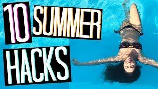 10 SUMMER HACKS | 10 TRUCCHETTI PER L'ESTATE CHE DOVETE SAPERE... CHE USO DAVVERO!!! | Adriana Spink | Kholo.pk