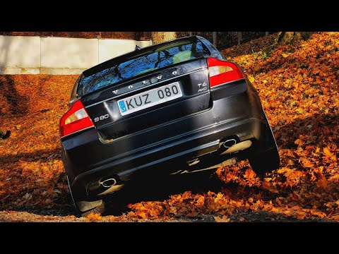 Volvo S80 AWD Suspended on 3 Wheels. Volvo S80 T6 224kw