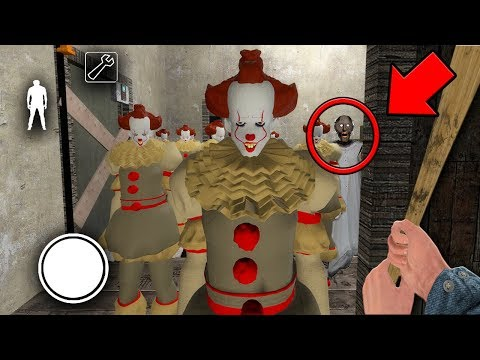 We found 100 PENNYWISE CLONES in GRANNY MULTIPLAYER... (Granny Horror Game MULTIPLAYER) (видео)
