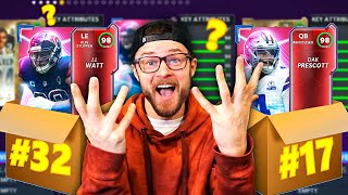 32 NFL MYSTERY BOXES DRAFT MY TEAM!! So Many Good Players!