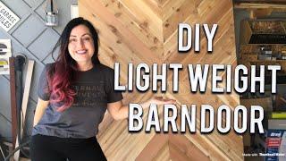 DIY BARN DOOR DESIGN - SUPER LIGHTWEIGHT HOLLOW CORE DOOR