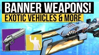 Destiny 2 Update | New Iron Banner Weapons, Faction Ornaments, Insane Exotic Vehicles & Trials Loot!