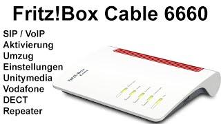 Fritz!Box 6660 Cable Umzug Installation, Ersteinrichtung, Einstellungen, Repeater und DECT verbinden