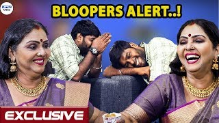 BLOOPERS ALERT : Fathima Babu teaches News reading to Karthikeyan | LittleTalks