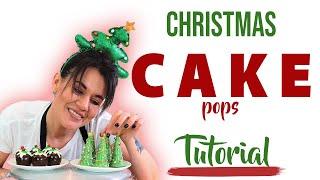 CUTE CHRISTMAS CAKE POPS/TRUFFLES