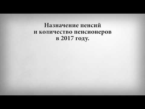 Назначение пенсий и количество пенсионеров в 2017 году