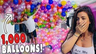 INSANE 1,000 BALLOONS in GIRLFRIENDS Room Prank! *Birthday Surprise*