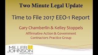 Two Minute Legal Update: Time to File 2017 EEO-1 Report