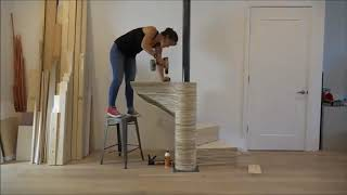 Винтовая лестница из фанеры