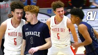 Nico Mannion DROPS 45 On Mater Dei BUT PISSES OFF 2021 5 Star Devin Askew Who RESPONDS With BUCKETS!