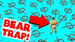 I TRAPPED PEOPLE USING 1000 BEAR TRAPS IN ARK SURVIVAL EVOLVED! (Ark Survival Evolved Trolling)