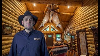 Single Level Log Home Expanded, Kootenai Rancher