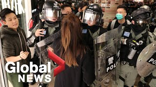Hong Kong protesters, police clash in malls as demonstrations continue