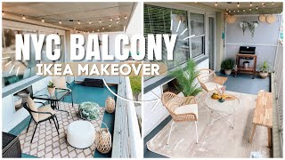 NYC BALCONY - IKEA MAKEOVER
