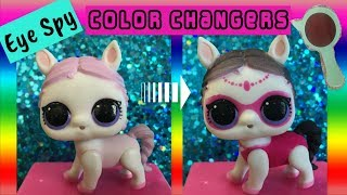💦Which LOL Surprise Eye Spy Pets Color Change? | Eye Spy Pets Wave 1 💧