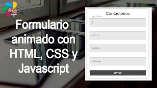 FormularioanimadoconHTML,CSSyJavascript