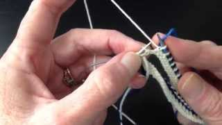 How to Knit  Corrugated Ribbing in the Round