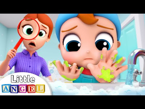 Wash, wash, wash your HandsHealthy Habits SongKids Songs and Nursery Rhymes Little Angel