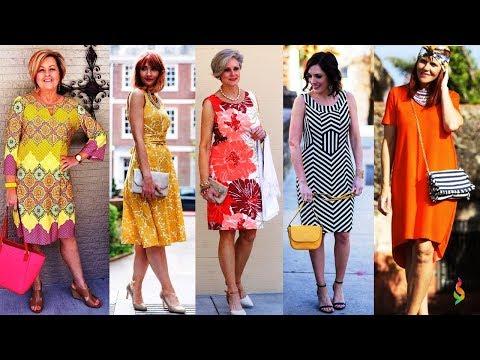 Модные летние платья для женщин за 50 💎 Стильные женские платья на каждый день Лето 2018 фото обзор