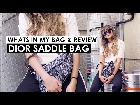 What's in my bag & Review of Dior Saddle bag