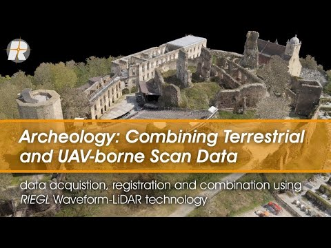 Combining Terrestrial and UAV-borne Scan Data in an Archeology Application