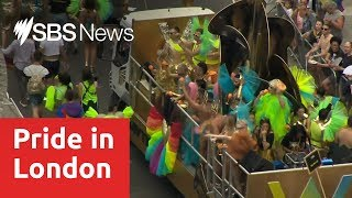 London awash with colour for 'biggest' Gay Pride parade