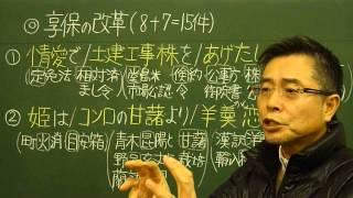 語呂合わせ日本史〈ゴロテマ〉59近世14/享保の改革の施策14件