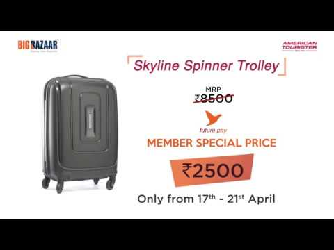 American Tourister Skyline Spinner Trolley | Rs 2500 | Big Bazaar