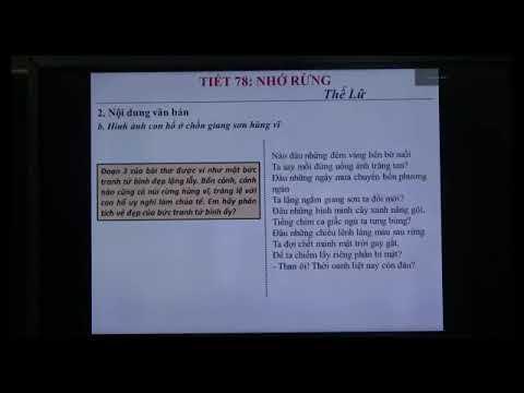 Văn 8-Tiết 78-Bài Nhớ rừng GV Đặng Thị Trà Giang, trường THCS Thụy Phong