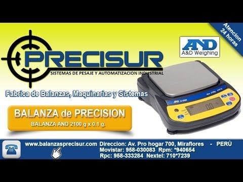 Balanzas electronicas de precision AND - www.balanzasprecisur.com