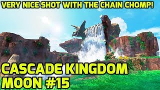 Super Mario Odyssey - Cascade Kingdom Moon #15 - Very Nice Shot with the Chain Chomp!