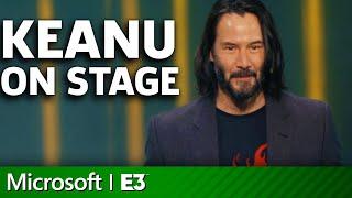 Cyberpunk 2077 - Keanu Reeves On Stage | Microsoft Xbox E3 2019