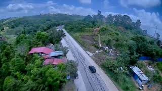 Chasing a Car while inside it with my FPV drone