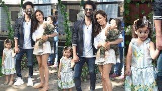 Shahid Kapoor With Wife Mira Kapoor & Cute Kids Misha & Zayn @daughter Misha's Bday Bash Venue