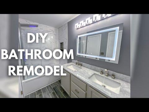 DIY Small Bathroom Remodel Timelapse | Modern Bathroom Design