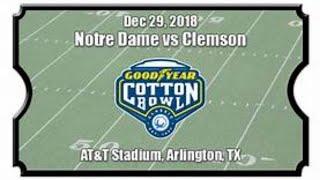 Goodyear Cotton Bowl Notre Dame Fighting Irish Vs. Clemson Tigers Live Stream Reaction