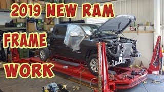 Pulling Frame on a New 2019 RAM Truck! (Part 4)