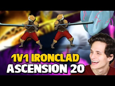 Streamer Beats Viewer! | 1v1 on Ascension 20 Ironclad - Slay the Spire