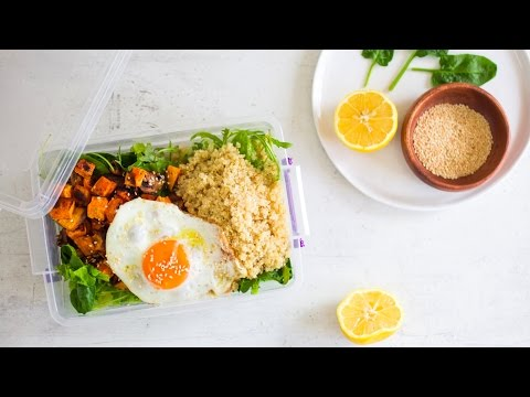 Video Healthy packed lunch idea: Veggie & sweet potato quinoa salad